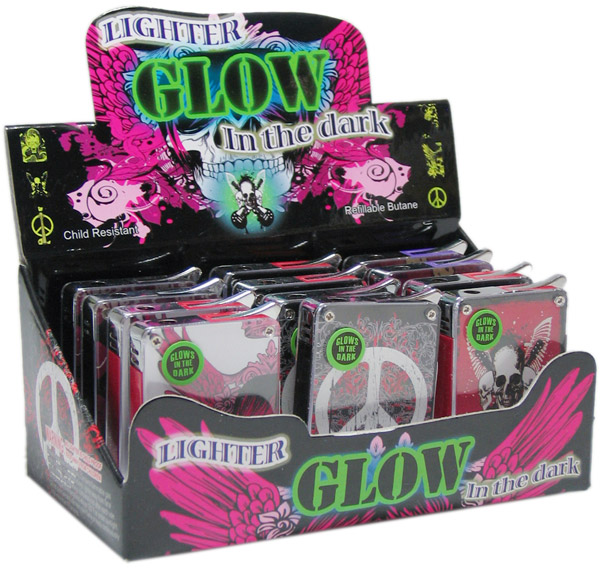 Glow in the Dark Tattoo Lighters 12ct